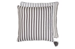 Heavy Herringbone Cotton pude i farven Steel fra Cozy Living